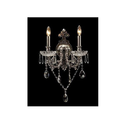 Wall Chandelier Silver with Black - AT07S-2